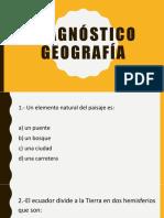 Diagnóstico Geografía