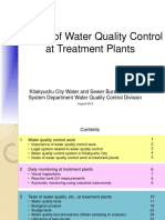 Water Quality Control at Treatment Plant