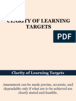 Lesson 3 - Clarity of Learning Targets
