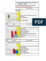 Academic Calendar (SE TE BE) Odd Sem 2018