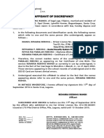 Affidavit of Discrepancy-Form3