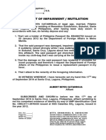 Affidavit of Explanation Form-3