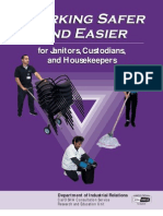 Working Safer and Easier for Janitors, Custodians, And Housekeepers