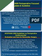 2009 ACC-AHA Periop Guideline Slide Set