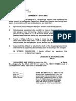 Affidavit of Loss Form-2