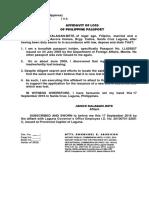 Affidavit of Loss Form-5