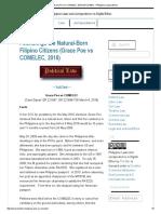 Grace Poe vs COMELEC, 2016 (GR 221697) - Philippine Jurisprudence.pdf