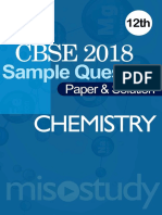 CBSE 2018 12th Chemistry Sample Question Paper