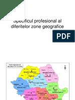 Specificul Profesional Al Diferitelor Zone Geografice