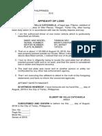Affidavit of Loss_plate