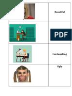 Adjective Worksheet