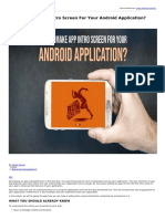 How to Make App Intro Screen for Your Android Application
