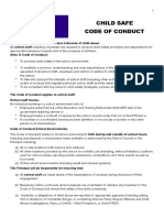 child safe cond of conduct