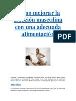 Como Mejorar La Erección Masculina Con Una Adecuada Alimentación