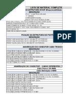 Planilha Lista de Material