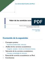 Valoración de los servicios ecosistémicos
