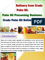 Edible Oil Refinery from Crude Palm Oil