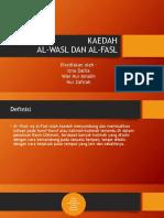 Kaedah Al Wasl dan Al Fasl