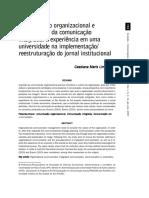 Comunicação Organizacional e Pressupostos Da Comunicação Integrada