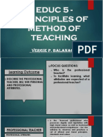 EDUC 5 Principles and Method of Teaching