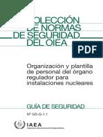 GS-G 1.1 (2006) Organización y Plantilla Del Personal..