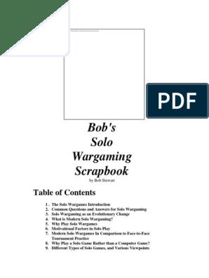 Bob's Solo Wargaming Scrapbook   Unrest