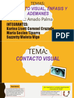 Trabajo Contacto Visual, Enfasis, Ademanes