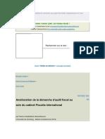 Amélioration de La Démarche d'Audit Fiscal Au Sein Du Cabinet Fiscalia International