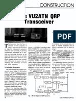 VU2ATN 20m QRP Transceiver