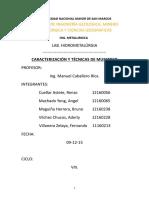 Caracterización y Técnicas de Muestreo - Terminado