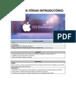 PLANO DE ENSINO Desenvolv. Apps iPhone Swift 4.0 Curso de Férias Introdutório (1)