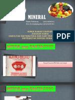 Bahan Pangan Mineral