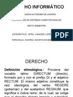 Derecho Informático Agosto 2011