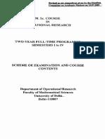 DU Msc_OR Course Content