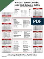 2010-2011 Calendar Del Rio