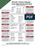 2010-2011 Calendar El Paso