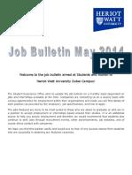 Job Bulletin May 2014