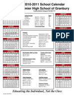 2010-2011 Calendar Granbury