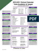 2010-2011 Calendar Jasper