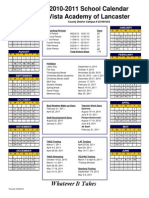 2010-2011 Calendar Lancaster