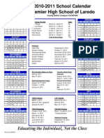 2010-2011 Calendar Laredo