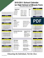 2010-2011 Calendar Miracle Farm
