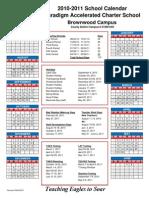 2010-2011 Calendar Paradigm Brownwood