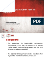 2. When to Implant ICD in Post MI Patient