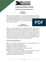 Reglamento Del Comité Electoral 2018. C.S.Hcos-Lima