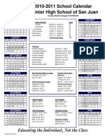 2010-2011 Calendar San Juan