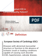 When to Implant ICD in Cardiomypathy Patient Final