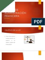 Sistema de Administraciòn Financiera