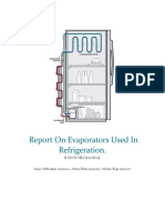 An Extensive Report on Evaporators Used in Refrigeration