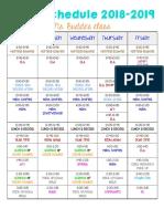budde schedule 2018-2019 final